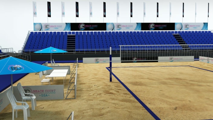 Sand Beach Court Construction