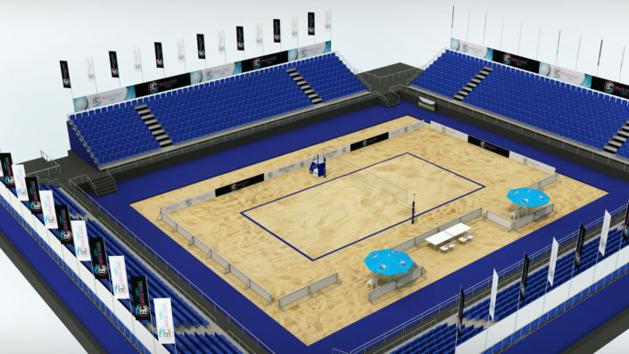 Volleyball Beach Sand Court Stadium